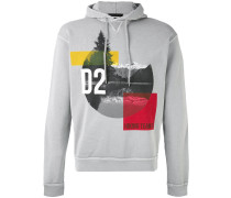 mountain print hooded sweatshirt - men