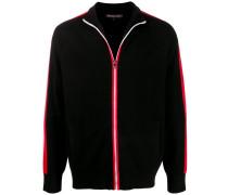 Sweatshirtjacke mit Streifen