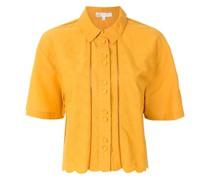 Cropped-Hemd mit kurzen Ärmeln