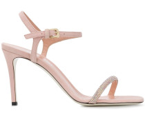 Verzierte Sandalen mit hohem Absatz