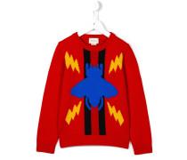 Intarsien-Pullover mit Bienenmotiv