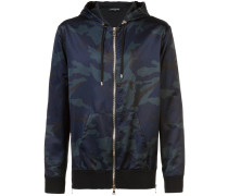 camouflage zipped bomber jacket