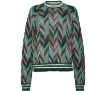 chevron knit jumper