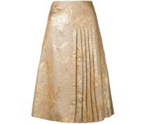 Faltenrock aus Brokat