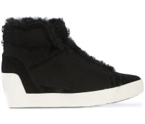 Wedge-Sneakers mit Shearling-Futter