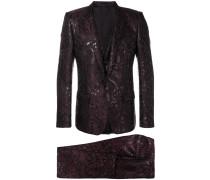 jacquard three piece suit