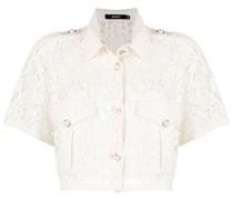 Cropped-Hemd aus Spitze