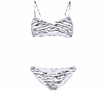 Vienna tiger print bikini top