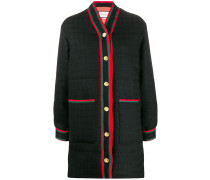 Tweed-Mantel mit Kapuze