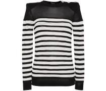 crew neck stripe long sleeve jumper