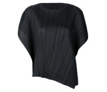 pleated open sleeved top