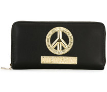 peace symbol zip around wallet