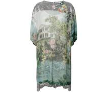 printed high low mini dress