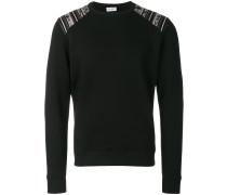 contrast-shoulder sweater