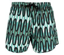 Scribble Stripes Badeshorts