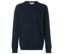 raw stitch crew neck sweater