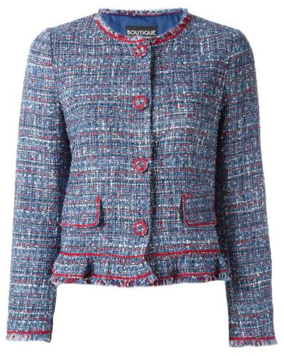 moschino damen tweed jacke mit langen rmeln reduziert. Black Bedroom Furniture Sets. Home Design Ideas