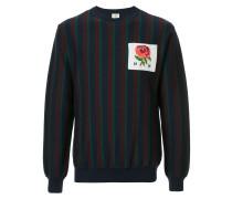 logo patch striped sweater
