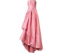 Schulterfreies Abendkleid mit drapiertem Design
