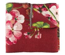 Wollschal mit floralem Print