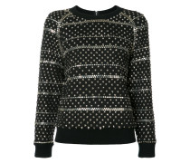 studded sweatshirt - women - Baumwolle/Acryl