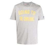 slogan-print short-sleeve T-shirt