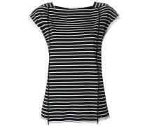 Striped side-tie t-shirt