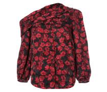 Schulterfreie Bluse mit floralem Print