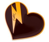 Emaillierte 'Heart & Bolt' Brosche