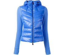 hooded padded front jacket