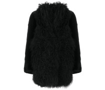 shearling trim coat