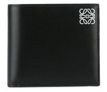 logo print flat wallet