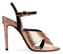 Sandalen in Metallic-Optik, 104mm