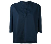 Oversized-Hemd mit Cropped-Ärmeln