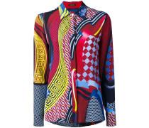 Seidenhemd mit Muster-Print - women - Seide - 42