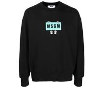 cartoon logo-print sweatshirt