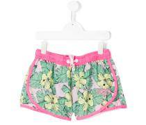 Shorts mit floralem Print - kids - Polyester