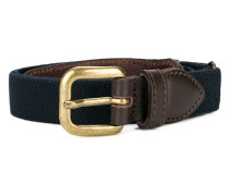 two-tone buckle belt