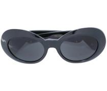 Ovale Sonnenbrille mit Medusa-Details