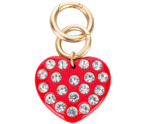 diamanté heart keyring