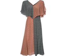 Seidenkleid mit Volantes - women - Seide - 50