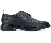 Classic Longwing Brogue With Lightweight Rubber Sole In Black Pebble Grain