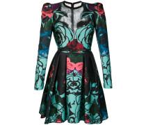 Ausgestelltes Kleid mit Rosen-Print