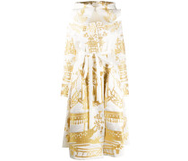 Besticktes Metallic-Kleid