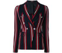 stripe print blazer - women - Baumwolle/Bemberg