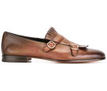 buckled fringe detail loafers