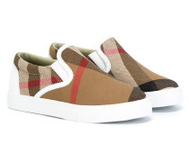 Karierte Slip-On-Sneakers - kids