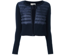 padded front cropped cardigan