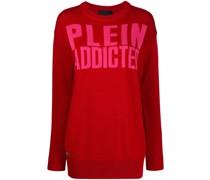 Langer Pullover mit Logo-Print