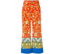 - floral print palazzo pants - women